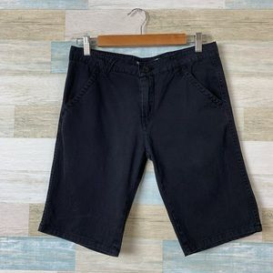 Men's Vans Denim Black Shorts Size 32